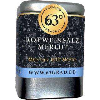 """Premium Rotweinsalz """"Merlot"""" - Grobes Meersalz mit Rotwein veredelt (100g)"""